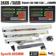 2/3axis Dro Digital Readout Display+ttl Linear Scale 5andmum Cnc Mill Lathe Machine