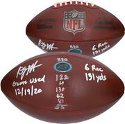 Autographed D.j. Moore Panthers Game Used Football Item11241872