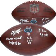 Autographed D.j. Moore Panthers Game Used Football Item11241871