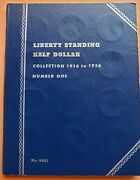 1916-1936 Liberty Standing Half Dollar Collection Book. 35 Coins Full Set