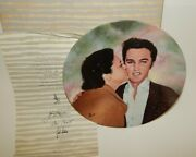 Elvis Presley Looking At A Legend Delphi Collector Plate Elvis And Gladys Wcoa