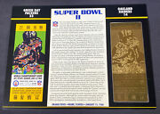 Willabee And Ward 22kt Gold Super Bowl Tickets Super Bowl Ii