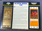 Willabee And Ward 22kt Gold Super Bowl Tickets Super Bowl Vii