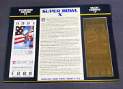 Willabee And Ward 22kt Gold Super Bowl Tickets Super Bowl X
