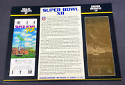 Willabee And Ward 22kt Gold Super Bowl Tickets Super Bowl Xii