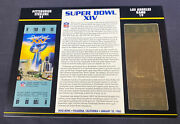 Willabee And Ward 22kt Gold Super Bowl Tickets Super Bowl Xiv