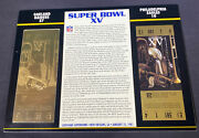 Willabee And Ward 22kt Gold Super Bowl Tickets Super Bowl Xv