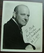 P. G. Wodehouse Inscribed Signed And Dated 1936 Stamped Clarence Bull On The Back