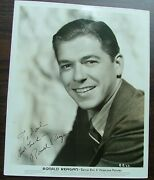 Ronald Reagan Signed Publicity Photo Warner Brothers 1939