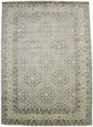 Hand-knotted New Osh Chobi 10x14 Muted Gray Floral Oriental Rug Decor Carpet