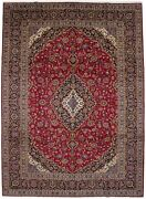 Hand-knotted Semi Antique Signed Classic 10x14 Vintage Oriental Rug Wool Carpet