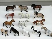 14 2000's Schleich Toy Horse Lot D-73527 Germany Lot 2