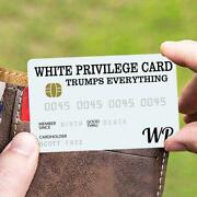 50pc White Privilege Card Gag Novelty Wallet Size Collectable Laminated Gift
