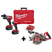 Milwaukee Hammer Drill Impact Driver Combo Kit M18 Fuel 18v Lithium-ion Cordless