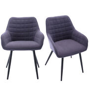 Set Of 2 Upholstered Dining Chairs Diamond Tufted Office Accent Chair Metal Legs