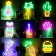 Mutiple Shaped Led Neon Light Wall Sign For Home/party/bar Decoration Usb Powere