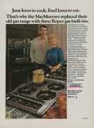 1974 Roper Gas Ranges Stoves Vintage Print Ad Page Fred Macmurray And Wife June