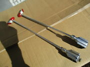 1930's-1940's 13 Inch Art Deco Style Red Bakelite And Chrome Fender Guides