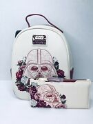 Loungefly Star Wars Darth Vader Floral Mini Backpack And Wallet Nwt Read