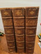 1865 The Great Civil War Illustrated Tomes And Smith 3 Volume Set Complete Leather