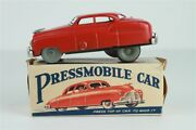 Rare Alps Japan Pressmobile Tin Wind Up Toy Car In Box 5-7/8 L Working