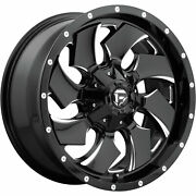 4- 20x10 Black Milled Cleaver 6x135 And 6x5.5 -18 Rims 33 Tires