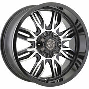 4- 20x9 Black Machined 580 6x135 And 6x5.5 -12 Rims Trail Blade Mt 33 Tires