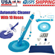 Swimming Pool Automatic Cleaner Clean Ground Pool Vacuum Hose Set W/10 Hoses Us