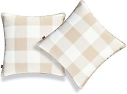 Hofdeco Coastal Patio Indoor Outdoor Pillow Cover Only For Backyard Couch Sofa