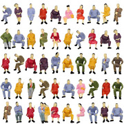 P4302 50pcs All Seated Sitting Figures O Gauge 1/50 Scale Seated People Railway