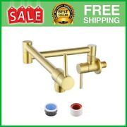 Kitchen Pot Filler Polished Brass Folding Faucet Lead-free Brass Double Join