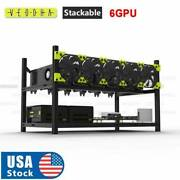 6 Gpu Aluminum Stackable Open Air Mining Computer Frame Rig Ethereum Veddha Usa.