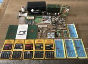 Vintage Singer Sewing Lot Featherweight Attachments Buttonholer Tools Access