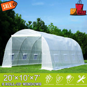 Erommy 20and039 X 10and039 X 7and039 Greenhouse Large Gardening Plant Hot House Portable Walkin