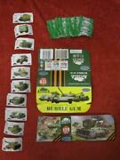 Lot Of 10 Rare Arsenal Military Russian Armor Chewing Gum Wrappers + Extras