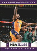 2012-13 Hoops Artistand039s Proofs Lakers Basketball Card 199 Metta World Peace