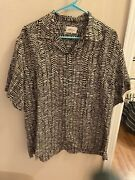 Brioni Shirt Xl Made In Italy 100 Rayon Large, Really Cool Pattern