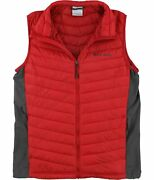 Columbia Mens South Valley Outerwear Vest, Red, Medium