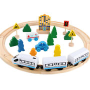 Wooden Thomas Puzzle Toys Electric Small Train Wooden Track Set Childen Gifts
