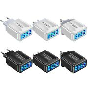 5.1a Usb Mobile Phone Charger 4 Port 3.0 35w Quick Wall Charging Device 4-ports