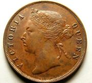 Straits Settlements Currently Malaysia 1897 One Cent Queen Victoria  57-703