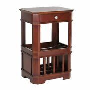 Wooden Frame Magazine Cabinet With 1 Drawer And Bracket Feet Brown