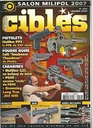 Cibles N°454 Walther Pps / Colt Snubnose Thunderer / Walther G22 / Browning