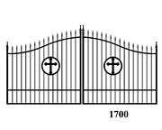 Wrought Iron Style Steel Driveway Gate 12and039 Wd Residential Home Yard Security