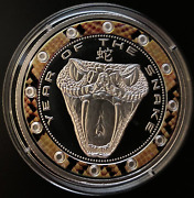 Niue Copper Nickel Is Coated With Silver Coin 1 Dollar 2013 Year Of The Snake