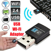 300mbps Wireless Usb Adapter Wifi Lan Antenna Internet Dongle 802.11n For Win 7