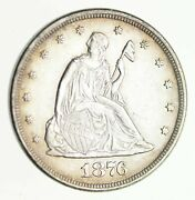 1876 Seated Liberty Silver Twenty-cent Piece - Near Uncirculated 4046