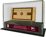 Indiana Hoosiers Historic 1928-1960 Display Case And Piece Of Engraved Gu Court