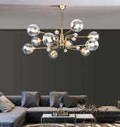 Nordic Modo Chandelier Dna Glass Ball Crystal Light Ceiling Fixture Dining Room