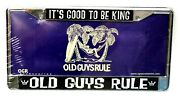 Old Guys Rule License Plate - Itand039s Good To Be King - Silver Ogr Dad Present New